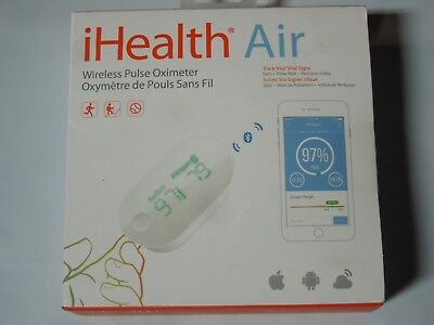 New iHealth Air Wireless Fingertip Pulse Oximeter Android & Apple iOS Compatible