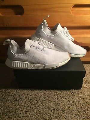 ba2ac9116 BY1888  MENS ADIDAS Nmd R1 - White Gum Pack Size 11.5 Boost (w ...