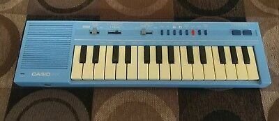VINTAGE 80'S CASIO PT-1 Electronic Sythesizer Keyboard Blue TESTED