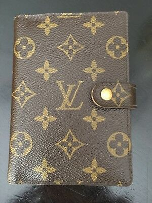 053b1025324 LOUIS VUITTON Monogram 6 Ring Small Agenda Address Book FRANCE Authentic  Canvas