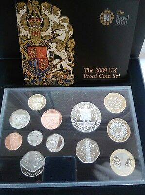 Royal Mint 2009  Proof Set. Includes the Famous Kew Gardens Fifty Pence Coin.