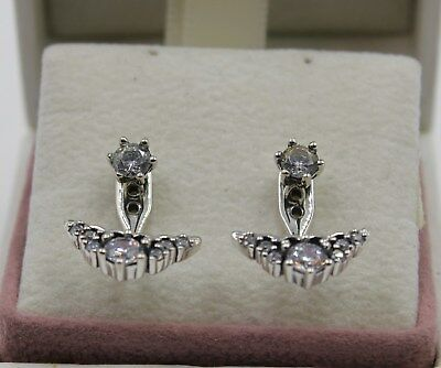 ffdbeba11 AUTHENTIC PANDORA FAIRYTALE Tiara Stud Earrings 296228CZ #1430 ...