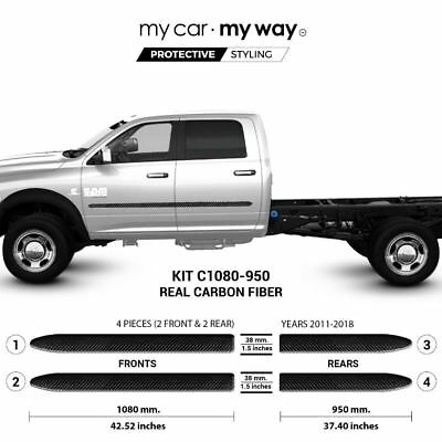 (Fits) Ram 3500-5500 2011-2018 Crew Chassis Real Carbon Fiber Body Side Molding