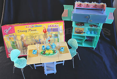 Join n Joy Home Dining Room DOLLHOUSE FURNITURE SIZE Plates Table SET FOR BARBIE