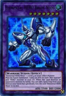 Elemental HERO Brave Neos (SAST-EN035) - Super Rare - 1st Edition