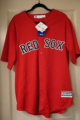 f70430aa4 NEW Boston Red Sox Mookie Betts Jersey #50 L Majestic Cool Base Red Retail  $150