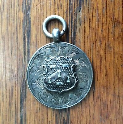 Vintage Football Huddersfield Chamber Of Trade 1922 Sterling Silver Fob Medal