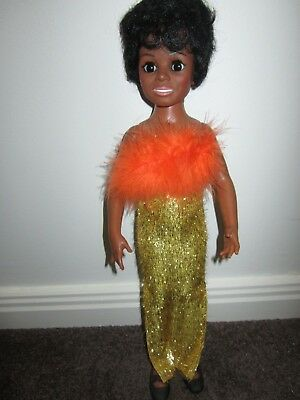 Ideal Diana Ross Doll Crissy African American No Box Original Dress Black shoes