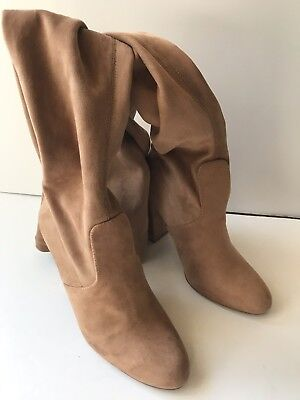 8fe578961c4 Steve Madden Women s EMOTIONS Boots Tan Over the Knee Size 7 Brand NEW!