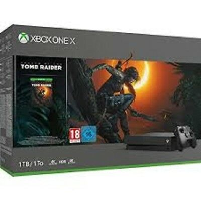 Pack Console Microsoft Xbox One X 1 To + Shadow of the Tomb Raider NEUF