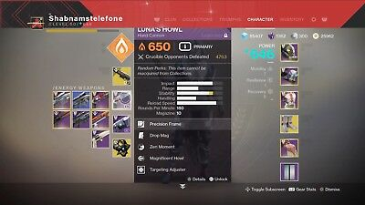 (ps4) Desiny 2 Lunas Howl Points Recovery, 100 Points = £3.00, 1 Day Completion