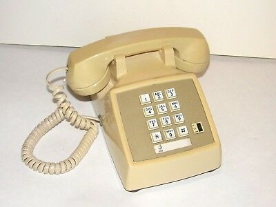 AT&T Push Button Desk Phone Telephone CS2500DMGB Landline Vintage Retro
