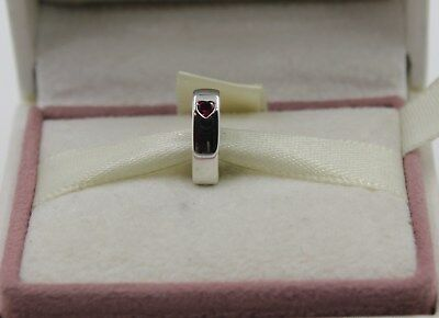 AUTHENTIC PANDORA Silver Two Hearts Spacer 796559CZR  #1119