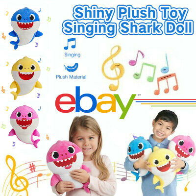 Soft Baby Shark Plush Led Creative Singing Toy Music Doll English Song Gift Kids