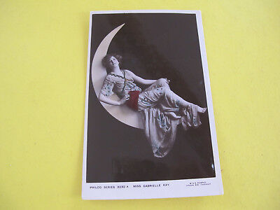 Miss Gabrielle Ray Actress Glamour Moon Postcard Postally used