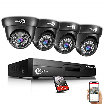 XVIM 8CH 720P Video Security Camera DVR System, 4 HD 1.0MP Indoor Outdoor Dome