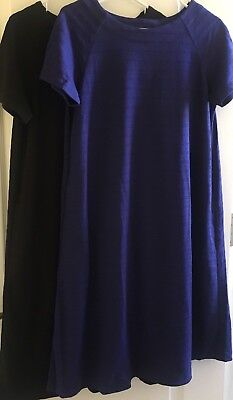 8248effa3c NWT Uniqlo Jacquard Short Sleeve Dress Blue or Black M