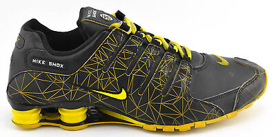 67bc8525d8bb Mens Nike Shox Id Nz Running Shoes Size 11 Black Yellow 445489 991 Leather  2011
