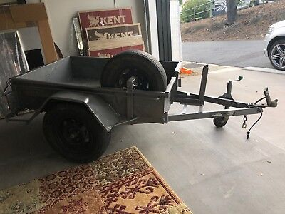 6x4 Motorbike Motorcycle Box Trailer Grey