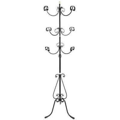 Coat hangers hang clothing wrought iron stand 6 places