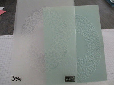 Stampin Up Sizzix Embossing Folder Wreath