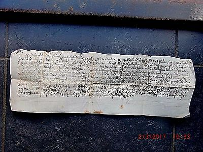 1601.(Eliz.1st.) VELLUM INDENTURE. LATTON/WILLIAMS/CHILMAN. RENDLESHAM. SUFFOLK.