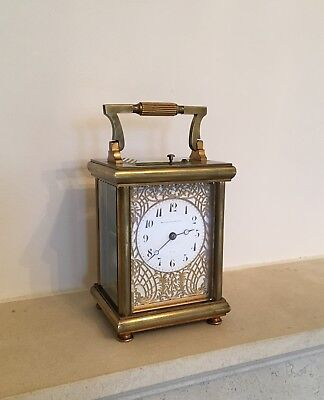 ANTIQUE FRENCH STRIKING & REPEATING CARRIAGE CLOCK 8 day & working order
