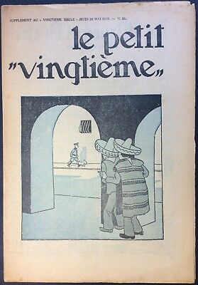 TINTIN THE Petit VingtiÈme n°21 du 28 may 1936 Good condition