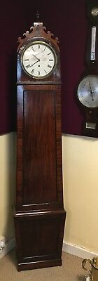 Antique Longcase Grandfather Clock, Campbell Glasgow, Circa 1830