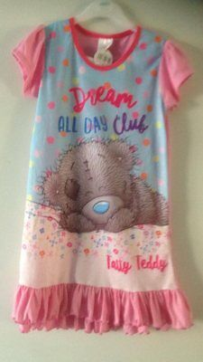 You To Me Bear Tatty Bear Nightie Pyjamas Pj's 5/6 Years New