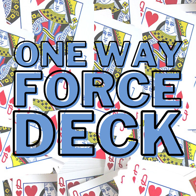 Bicycle One Way Force Deck Playing Cards (BLUE) Forcing - Choose Suit & Value