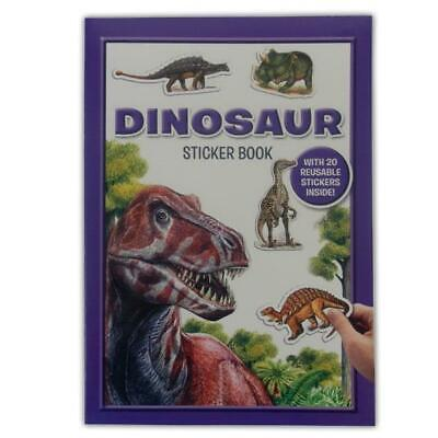 Dinosaur Sticker Book - Activity Childrens Kids Learning Education Reusable