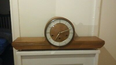 Original German Mauthe Art Deco Style Westminster Chiming Mantle Clock