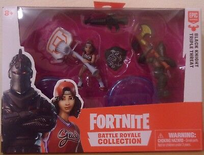 Fortnite ~ Black Knight & Triple Threat ~ Battle Royal Collection 2 Figure Pack
