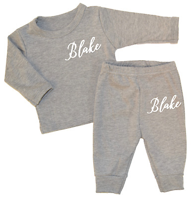 Personalised Fancy Name Lounge Set Baby Tracksuit Baby Gifts Newborn