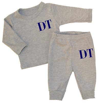 Personalised Initials Lounge Set Baby Tracksuit Baby Gifts Newborn