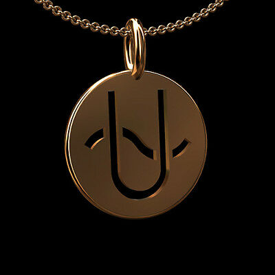 Ophiuchus Zodiac Sign 14K Pink/Rose Gold Pendant Necklace