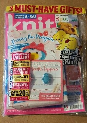 Knit Now Magazine Issue #97 ~ New Sealed Pack With Gifts ~