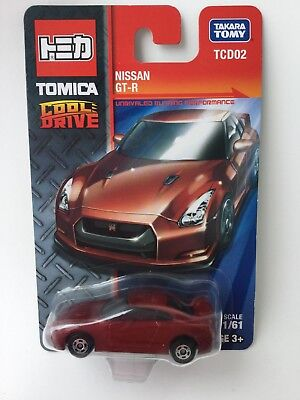 Tomica Cool Drive Nissan Gtr Red 1:64 Scale Model Car Mip China