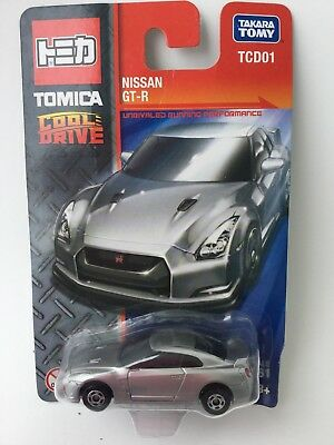 Tomica Cool Drive Nissan Gtr Gray Silver 1:64 Scale Model Car Mip China