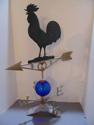 Vintage Robbins Rooster Metal Weather Vane