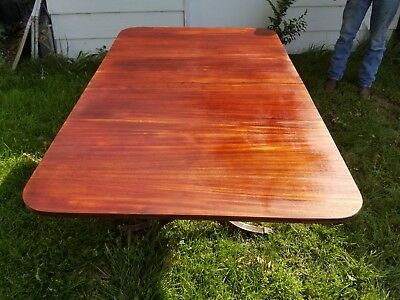 1930 Duncan Phyfe Style Antique Mahogany Drop Leaf Dining