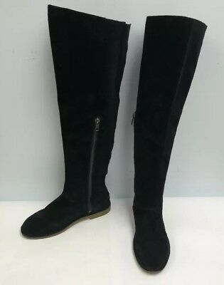 22e4ee5afa7 Ugg Australia Boots Loma Over The Knee Women Size 7 Black Suede Upper