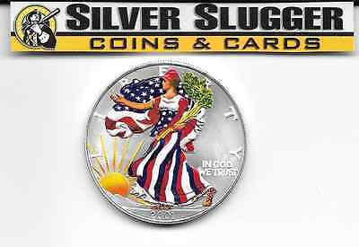 (1) 2001 Colorized  American Silver Eagle 1 oz