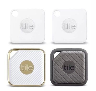 BRAND NEW! Tile- 2 Mate/1 Style/1 Sport (4-Pack) Bluetooth Wireless Item Tracker