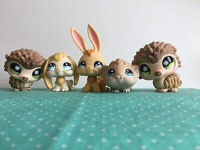 LPS Littlest Pet shop Lot of 5 random pets *nice condition *Authentic