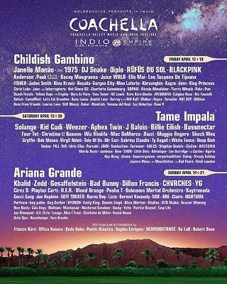 Coachella 2019 - Weekend 1 - (2) GA Wristbands with Shuttle Passes (box and all)