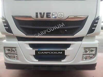 IVECO STRALIS HI-WAY FRONT GRILL+ SIDE PARTS 10 Pcs. '' STAINLESS STEEL''