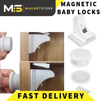 Baby Safety Magnetic Cabinet Lock Set Child Safety Locks Hidden Kids Proofing