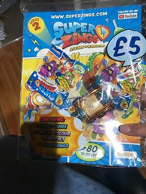 Superzings Rivals Of Kaboom Series 2 Comic-guide Starter Pack Inc Metal Superjet